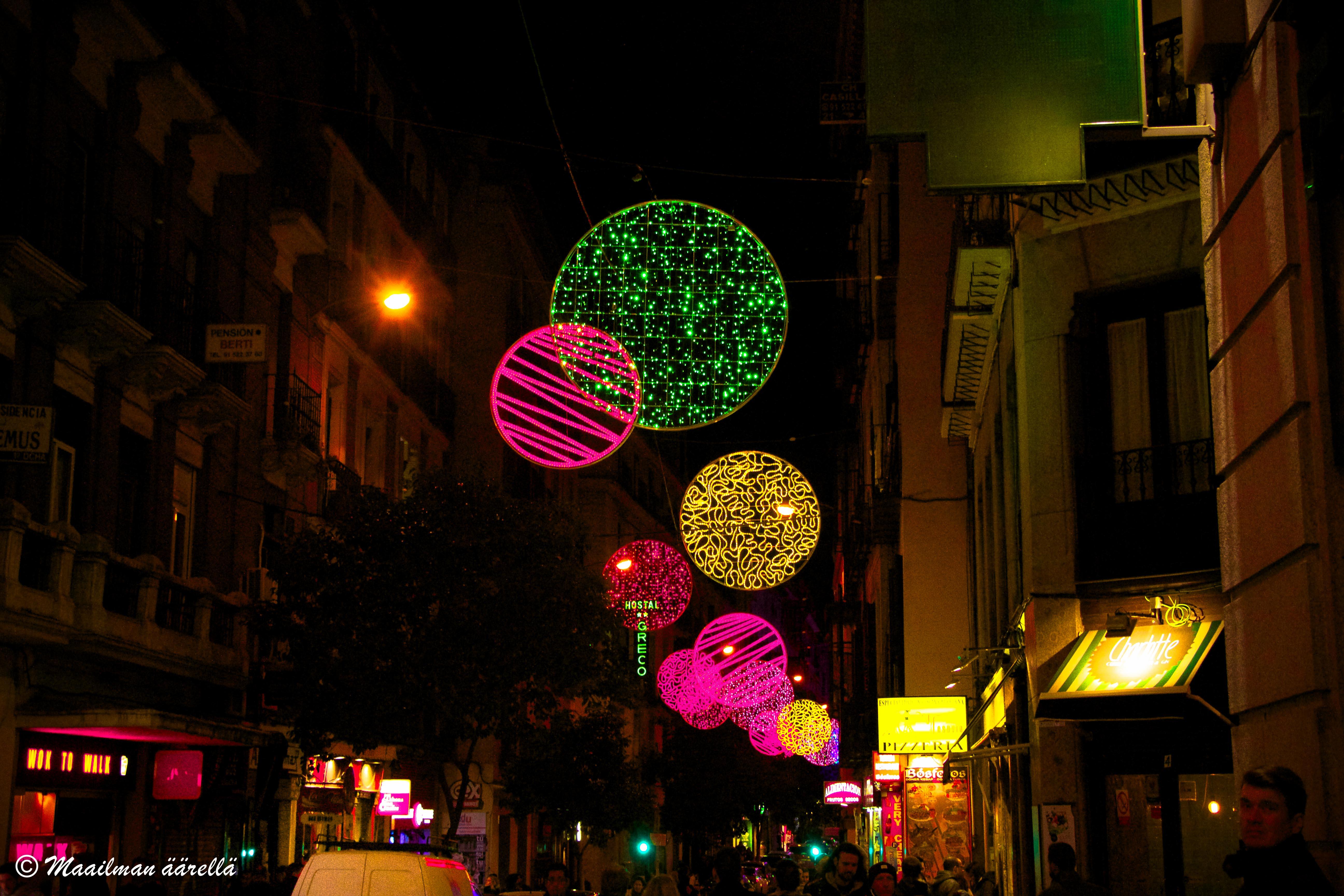Madridin jouluvalot