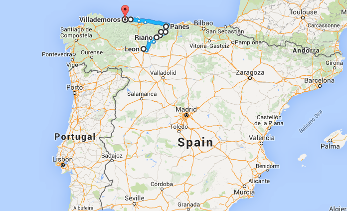 Espanjan kartta