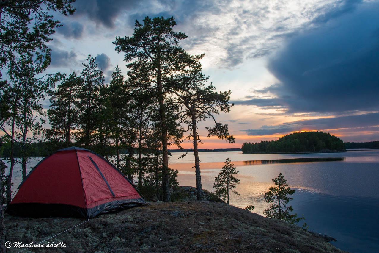 Saimaa telttailu