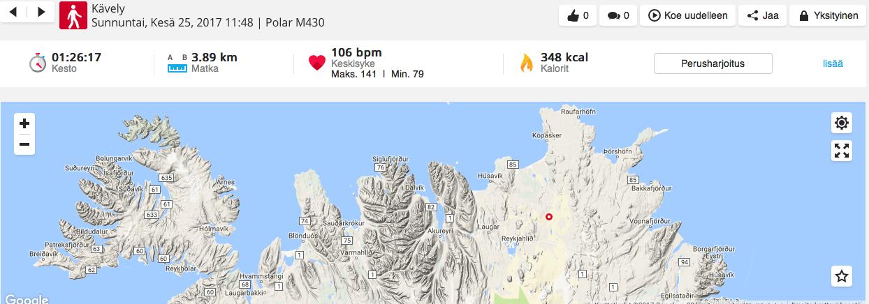 Islanti kartta