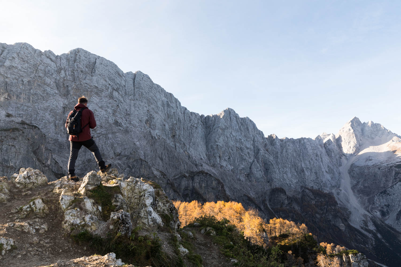 Patikointi Triglavin kansallispuistossa Sloveniassa