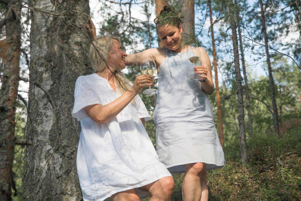 Wine in the woods Punkaharju